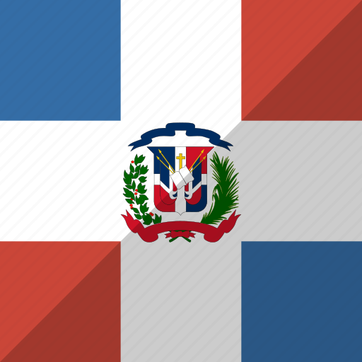 country, dominican, flag, nation, republic icon