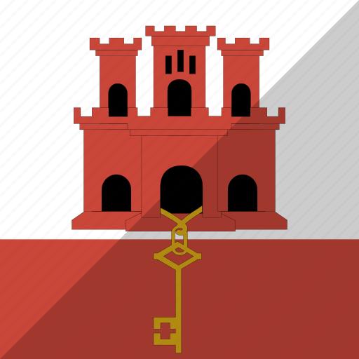 country, flag, gibraltar, nation icon