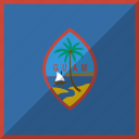 country, flag, guam, nation icon