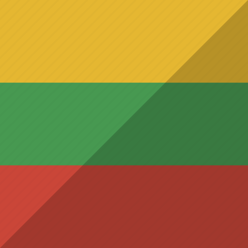 country, flag, lithuania, nation icon