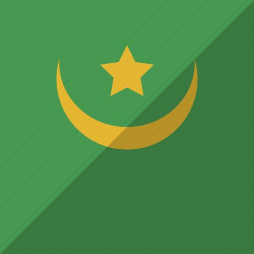country, flag, mauritania, nation icon