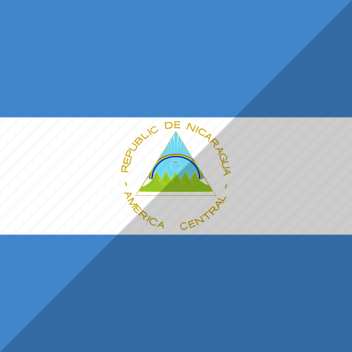 country, flag, nation, nicaragua icon
