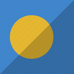 country, flag, nation, palau icon