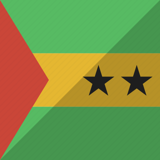 country, flag, nation, principe, sao, tome icon