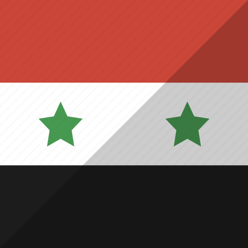 country, flag, nation, syria icon