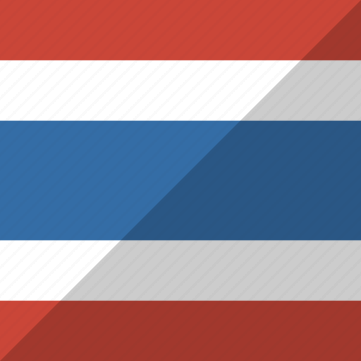 country, flag, nation, thailand icon