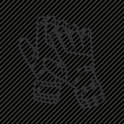 gloves, goalie gloves, goalkeeper gloves, soccer gloves, sport gloves icon