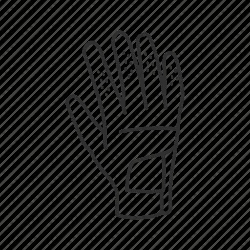 baseball glove, batting glove, cricket glove, glove, golf glove, racketball glove, sport glove icon