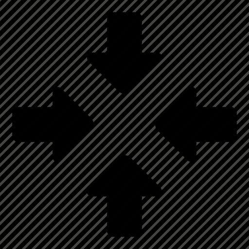 arrows, collapse, focus, resize, zoom icon