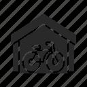 bicycle, bike, bike-storage, cycle, cycle-drive, storage, transport icon