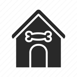 building doggy, doghouse, guard-home, house, household, property icon