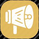 ads, advertisement, announcement, loudspeaker, speaker, speaking, volume icon