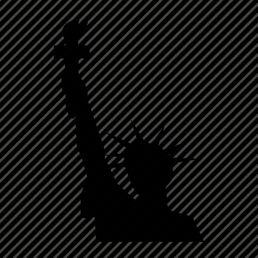 liberty, new, statue, unesco, us, york icon