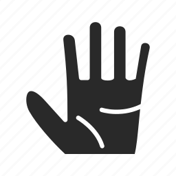 back, fingers, five, five-fingers, gestures, interaction, previous icon