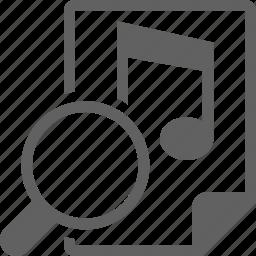 audio, music, search icon