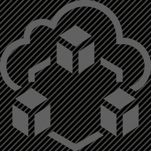 big, big data, cloud, cloud app, data, file, server icon