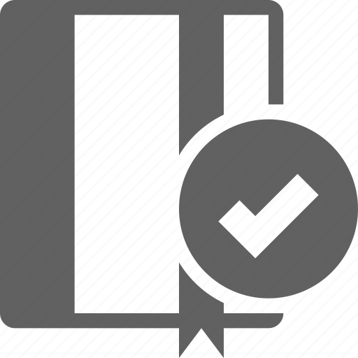 address, book, bookmark, checkmark, guide, service icon