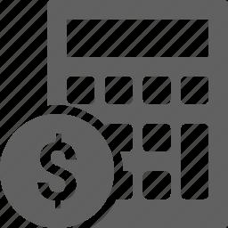 budget, calculator, money icon