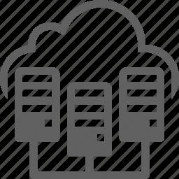 cloud, computing, hdd, server, storage icon
