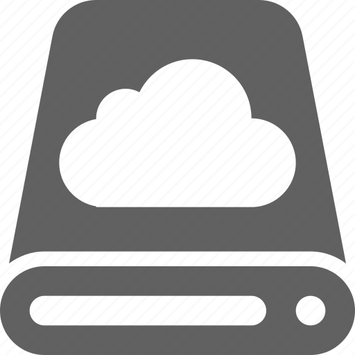 cloud, computing, database, hard disk, hdd, server, storage icon