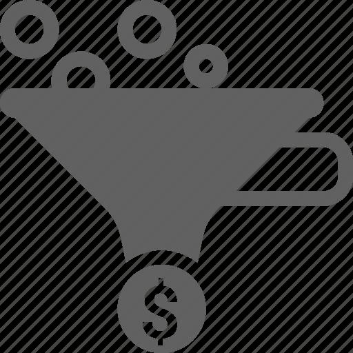 business, conversion, filter, funnel, idea, money, optimization icon