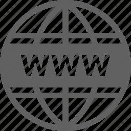 domain, internet, registration, website, www icon