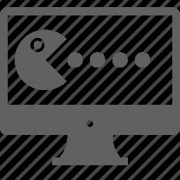 desktop, development, game, monitor, pacman, virus icon