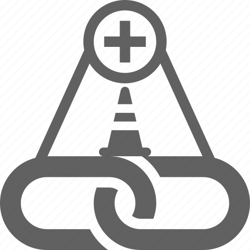 building, construction, link, link building icon