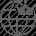branding, crown, globe, online