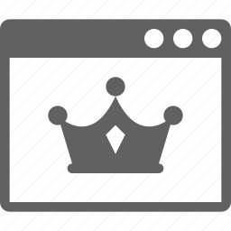 crown, page, quality icon