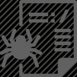robot, spider, txt icon