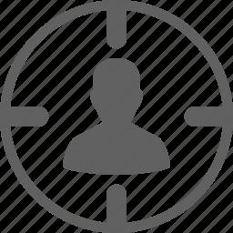 audience, customer, marketing, target, user icon