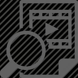 search, video, vimeo, youtube icon