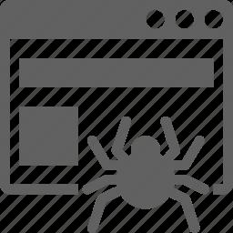 browser, crawler, internet, spider, web, website icon