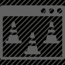 maintenance, page, under construction, web icon
