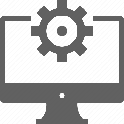 monitor, service, setting, web, web development icon