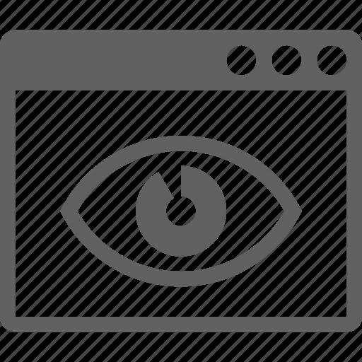 eye, retina, visibility, web icon