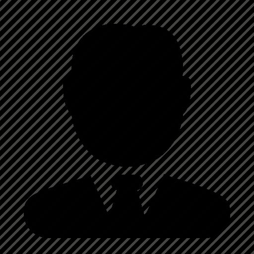 avatar, business, man, person, profile, shape icon