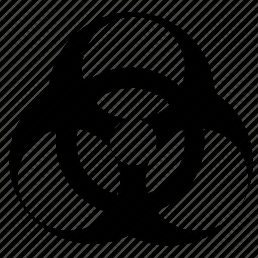 biohazard, biological, danger, hazard icon