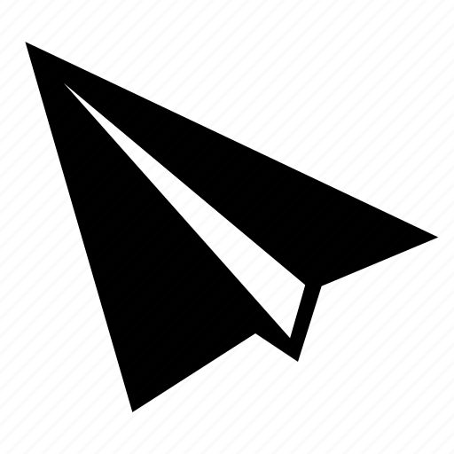 aeroplane, paper, send, submit, upload icon