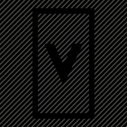 align, layout, orient, orientation, vertical icon