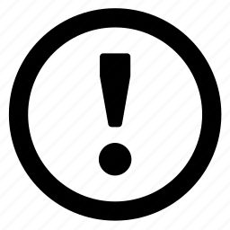 alert, circle, danger, warning icon