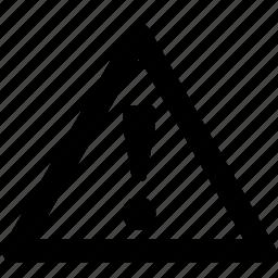 alert, danger, exclaim, triangle, warning icon