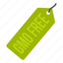 badge, food, free, gmo, label, stamp, tag icon
