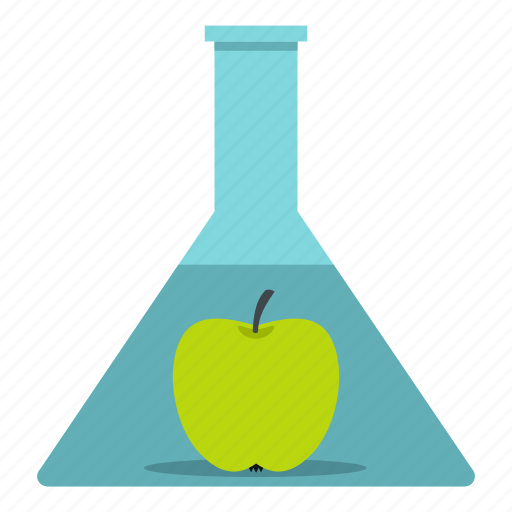 apple, chemical, chemistry, flask, fruit, lab, laboratory icon