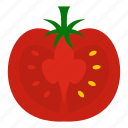 biotechnology, gmo, modified, organic, ripe, tomato, vegetable icon