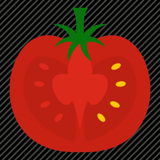 biotechnology, gmo, modified, organic, ripe, tomato, vegetable icon