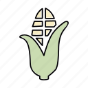 corn, maize, popcorn, vegetable icon