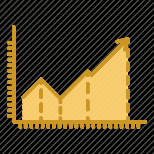 business, chart, diagram, graph, grid, line chart icon