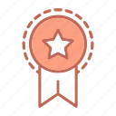 badge, business, reward, seal, star, startup icon